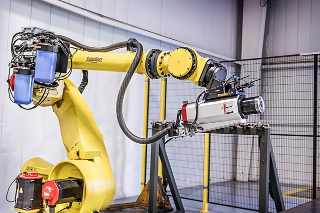 Aerospace industry uses industrial robots