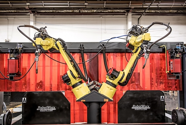 Two Fanuc welding robots