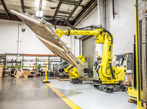 Material handling automation with robots