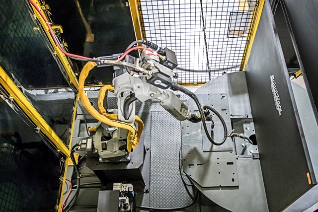 Welding manufacturing robots