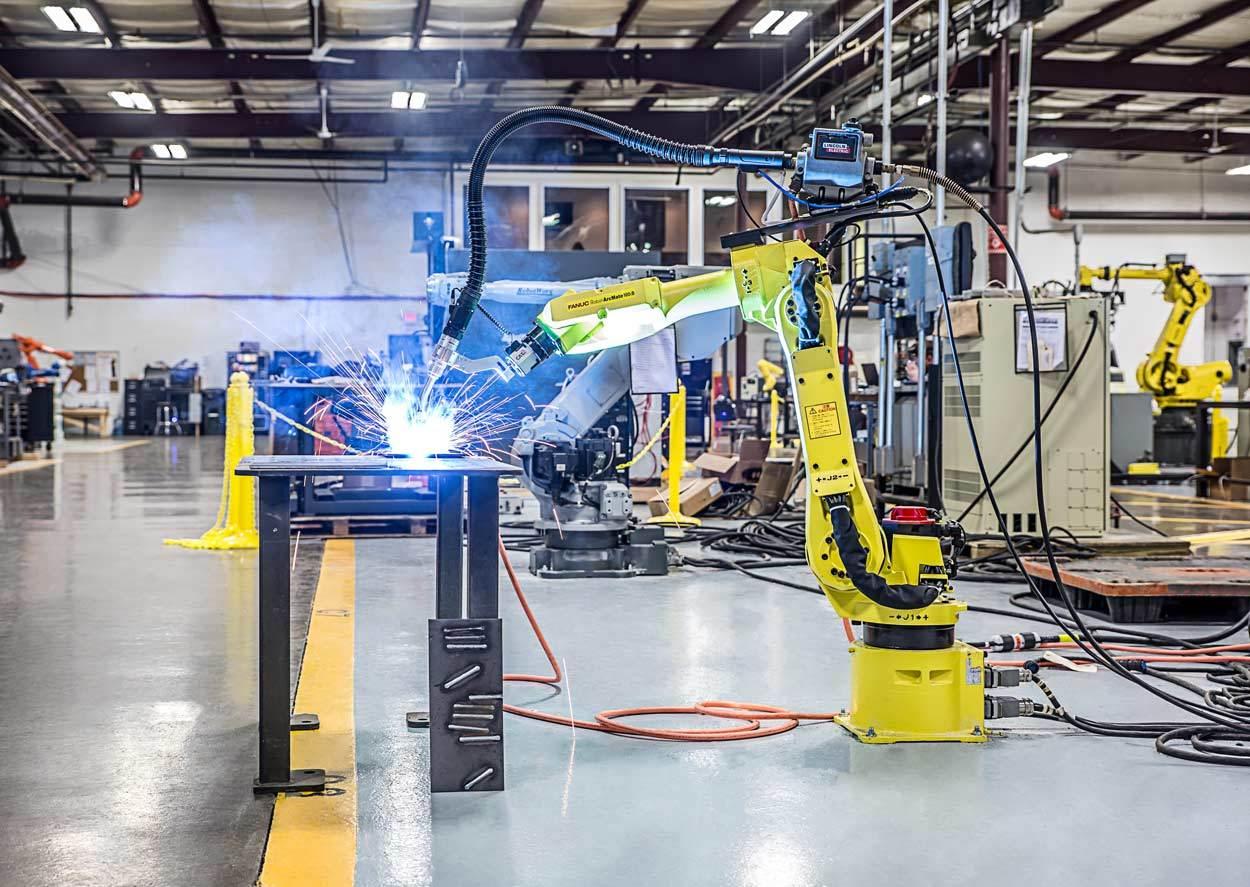 Robotworx Fanuc Arc Mate 100ib Old Lincoln Welder Parts