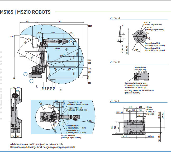Motoman Ms165 Footprint 0001